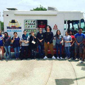 Students learning about small businesses like Texas Ice Cream